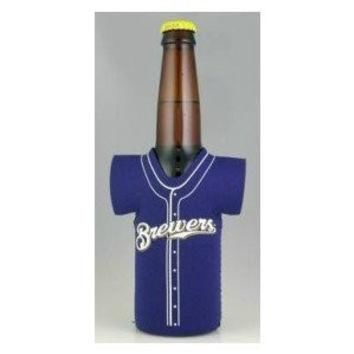 Milwaukee Brewers BOTTLE JERSEY KOOZIE drink cooler Great BASEBALL FAN Gift MLB