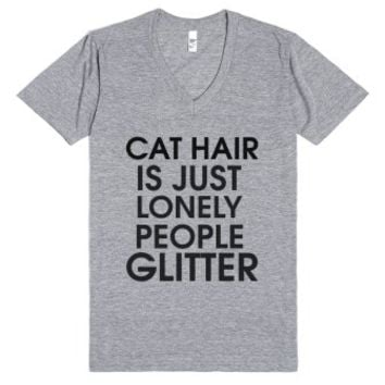 Cat Hair-Unisex Athletic Grey T-Shirt