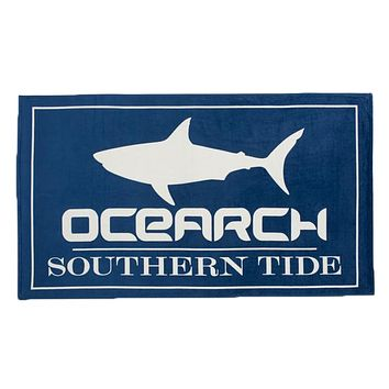 OCEARCH Beach Towel in Yacht Blue by Southern Tide