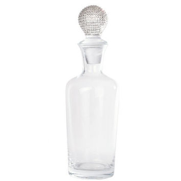Crystal wine decanter made personalized with Swarovski crystal color choice