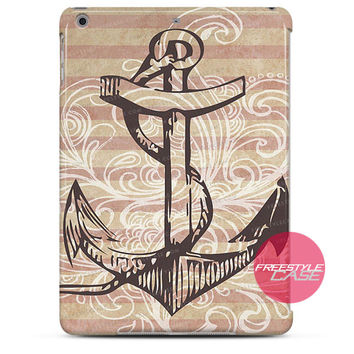 Strip Anchor Floral iPad Case 2, 3, 4, Air, Mini Cover