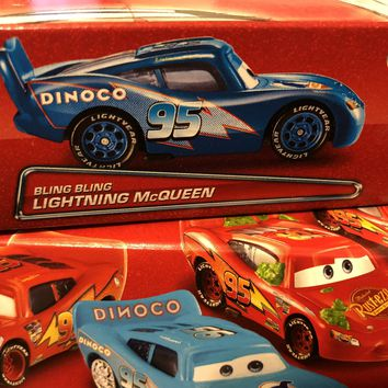 Disney Cars Lightning Mcqueen Box Package Bling Bling Lightning Mcqueen