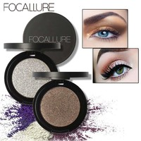 FOCALLURE Eyeshadow Makeup Matte Eye Shadow Palette Professional Single Color Makeup Glitter Eyeshadow Powder Cosmetic 1PC
