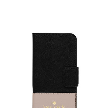 Kate Spade Cedar Street Iphone 6 Folio Black/Pebble ONE