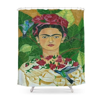 Society6 Frida In Heaven Shower Curtains