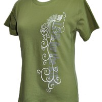 Flowy Horse T-shirt WOMEN'S Cut