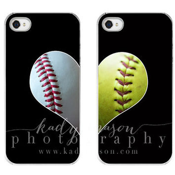 The Original Best Friends Baseball & Softball LOVE cases iPhone 5