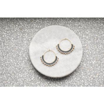 Wool & Moon - Creole Earrings | Noire