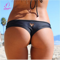 Hot Sale Hollow Heart T-Back Beachwear 2017 Summer Beach Bikini Bottom Swimwear Female Sexy Thong Swimsuit Women Bathing Suit