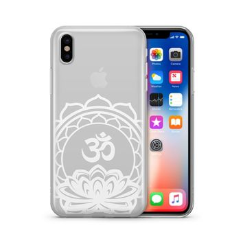 Henna Ohm Lotus Mandala - Clear TPU Case Cover Phone Case