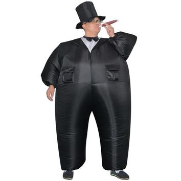 The gunman inflatable inflatable suit black suit man inflatable Halloween costume guy carnival costume, free shipping
