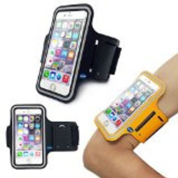Key Holder for IPhone 6 Plus - Black-Deego Armband Case with Built-in Screen Protector