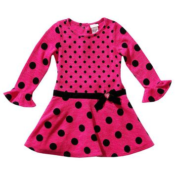 Youngland Polka-Dot Drop-Waist Dress - Girls 4-6x