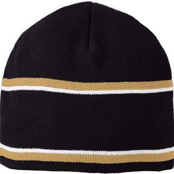 DCCKSW1 Holloway 223832?Engager Beanie - Black Vegas Gold White