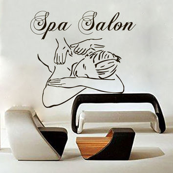 Spa Salon Wall Decal Beauty Decals Girl Woman Art Vinyl Stickers Interior LM165
