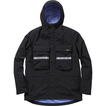 Supreme: Hi-Vis Taped Seam Jacket - Black