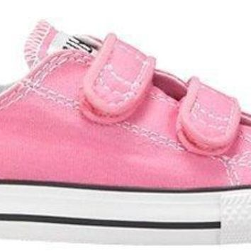 converse girl s chuck taylor all star 2v infant toddler pink 7 m us toddler