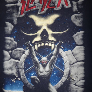 Vintage SLAYER Live Intrusion 1995 Long Sleeve T Shirt Original Heavy Metal Excellent Condition Tee LARGE
