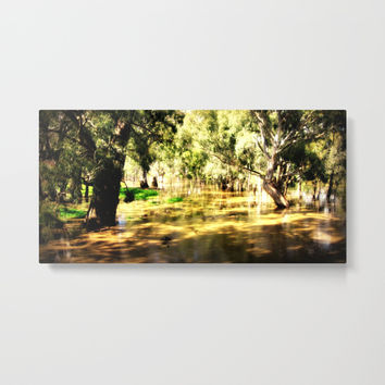 Flooded Plains Metal Print by Chris' Landscape Images & Designs