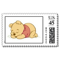 Winnie the Pooh Sleeping Stamps from Zazzle.com