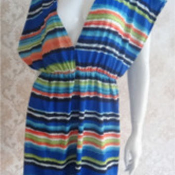 Rainbow Beach Cover-up Dress