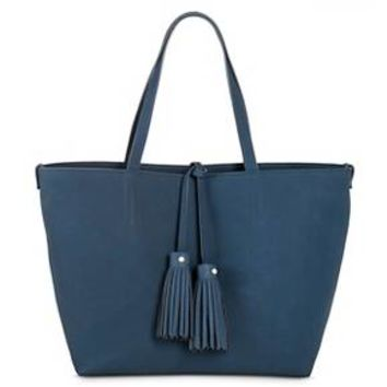 Women's Faux Leather Tote with Crossbody Bag Handbag - Merona™ : Target