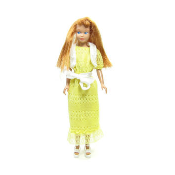 Redhead Skipper Doll Vintage 1960s Straight Leg Barbie's Little Sister with Red Hair