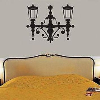 Wall Stickers Vinyl Decal Lantern Home Decor For Bedrooms Unique Gift ig1497