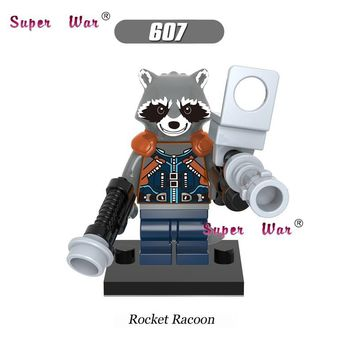 Star Wars Force Episode 1 2 3 4 5 20pcs  Guardians of the Galaxy Rocket Raccoon building blocks figure bricks  model Collection classic baby toys AT_72_6