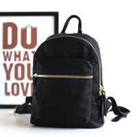 On Sale Back To School Hot Deal College Comfort Stylish Simple Design Korean Casual Zippers Backpack [4915787524]
