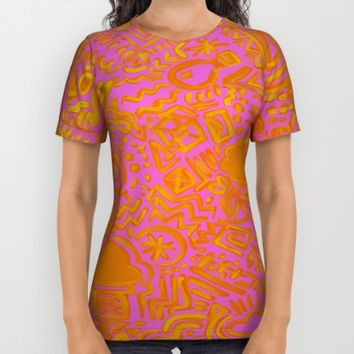 Mixx It Upp All Over Print Shirt by Ducky B