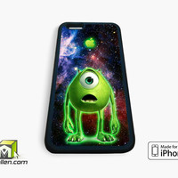 Monster Inc Mike Glowing Alien iPhone Case 4, 4s, 5, 5s, 5c, 6 and 6 plus by Avallen