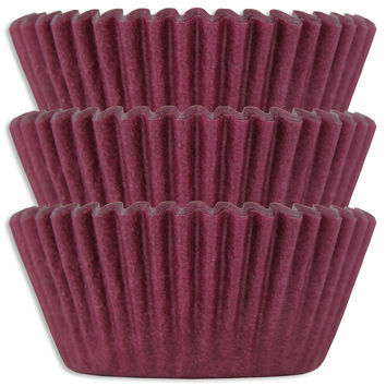Burgundy Baking Cups