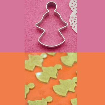 Free Shipping Hotsale Angel Shaped Aluminium Mold Sugarcraft Cake Decorating Cookies Pastry Baking Cutter Mould Tool