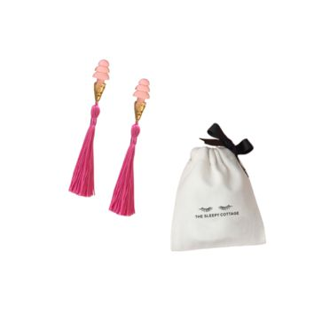 ELLE- PINK TASSEL SLEEPING EARPLUGS