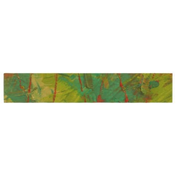 "Jeff Ferst ""Evergreens"" Green Red Table Runner"