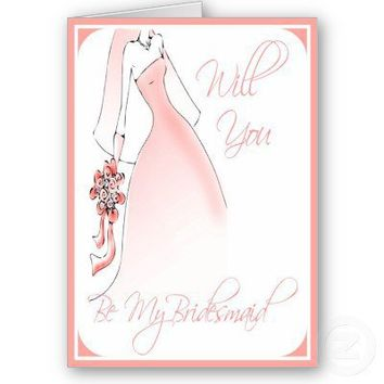 Be My Bridesmaid Invitation for Bridal Attendants Cards from Zazzle.com