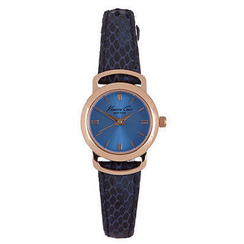 Kenneth Cole New York Women's Blue Snake Skin Embossed Leather Watch 2724