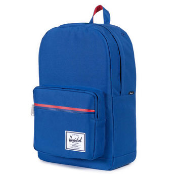 Herschel Supply Co.: Pop Quiz Backpack - Deep Ultramarine / Red