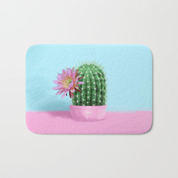 Cactus Flower Serie 1 Bath Mat by lostanaw