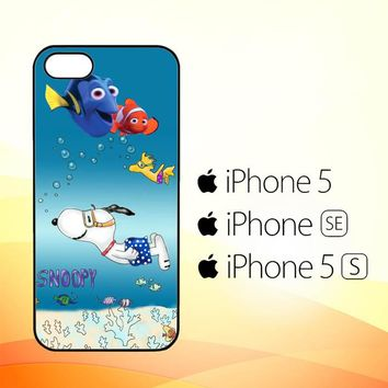 Snoopy Swimming Render Nemo X3266  iPhone 5|5S|SE Case