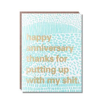 Putting Up With My S... Anniversary Card