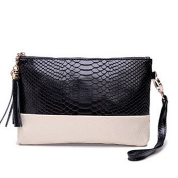 Genuine Leather Shoulder Clutch