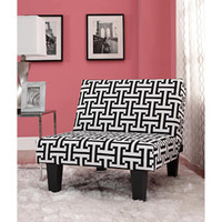 Walmart: Kebo Chair, Black and White Geometric Pattern with Dark Leg