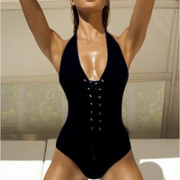 Lace Up Design Monokini