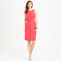 LADDER-STITCH DRESS IN BI-STRETCH COTTON