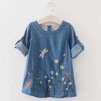 Baby Girl Dress - Denim Dream