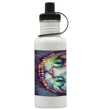 Gift Water Bottles | Madhatter Chershire Cat Aluminum Water Bottles