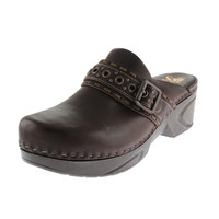 Soft Womens Leather Mules Clogs