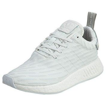 Adidas Women's Nmd_r2 Primeknit Running Shoes In Vintage White